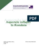 Aspectele Inflatiei in Romania.pdf