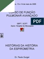 HISTÓRIAS DA HISTÓRIA DA ESPIROMETRIA