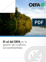 El rol del OEFA en la gestión de conflictos socioambientales