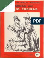 Arte-Lecciones de Dibujo Artístico. Láminas Por Emilio Freixas - Serie 21 (Trajes Regionales)