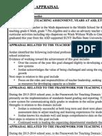Jordan Summative Appraisal 13-14
