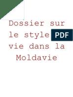Dossier Sur Le Style de Vie Dans La Moldavie