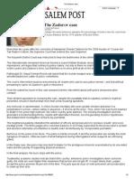 2013-04-02 the Zadorov Case_JPost