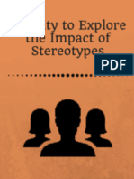 Activity to Explore the Impact of Stereotypes