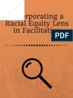 Activity for Incorporating a Racial Equity Lens in Facilitation