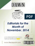 DAWN Editorials - November, 2014