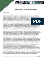 Análisis Histórico de La Recepción Del Capital en España y Latinoamérica