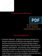 Rural Consumer Behavior