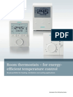 Room Thermostats for Individual Energy Efficient Temperature Control A6V10330721 Hq En
