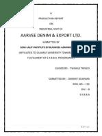 Aarvee Denim (Final Report)