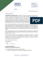 Carta TI Evo Morales