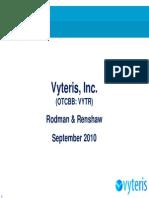 Vyteris Presentation-Rodman Conference-September 2010