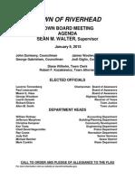 January 6, 2015 - Agenda
