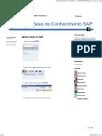 Aplicar Nota No SAP