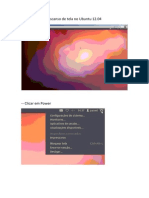 Desabilitar o Descanso de Tela No Ubuntu 12