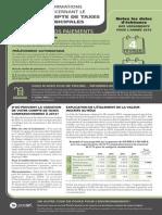 Compte de taxes municipales à Gatineau (2015)