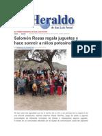 05/01/2015 Salomón Rosas Regala Juguetes y Hace Sonreír a Niños Potosinos