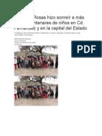5/01/2015 Salomón Rosas Hizo Sonreír a Más de Dos Centenares de Niños en CD