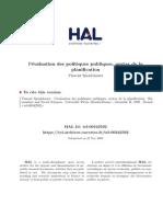 These Doctorat Vincent Spenlehauer 1998 l Evaluation Des Politiques Publiques Avatar de La Planification