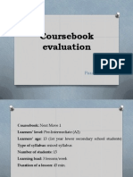 coursebook evaluation 1
