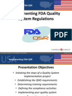Implementation of FDA Regulations