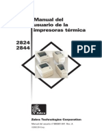 Manual del usuario de la impresora termica 2824/2844
