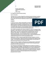 CCAFT Grievance Letter