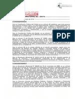R.M. N 854 DE 11 DE DICIEMBRE DE 2014 NUEVA ESCALA DE VALORADOS PARA TRAMITES ANTE EL MINISTERIO DEL TRABAJO