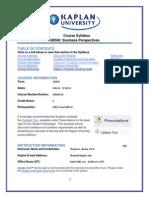 GB500 Term 5, 2014 Syllabus