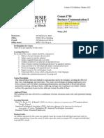 Syllabus Comm 1710 w2015 MANDERSON(1)