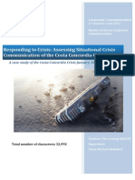 Assessing Situational Crisis Communication of the Costa Concordia Crisis