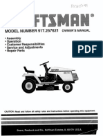 Craftsman 917 257621 Riding Lawn Mower Manual | Tractor | Clutch