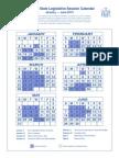 2015 NYS Legislative Session Calendar