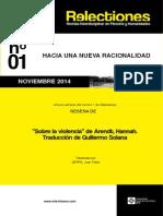 Reseña en RELECTIONES de Sobre la Violencia (h. Arendt) JPS