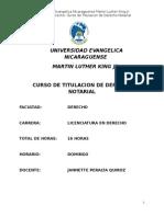 CURSO DE TITULACION Módulo de Derecho Notarial.doc