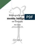 Bibliografia Delmonte Indigena en El Uruguay Rita Grisolia