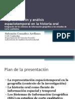 Representación y análisis espaciotemporal de la historia oral