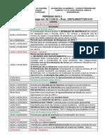Calendario 2015-1 Dos Campus I, II e III
