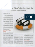 Maximizing the Value of a Risk-Based Audit Plan.