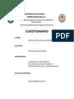 Cuestionario-calidad en La Ingenieria
