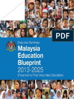 Malaysia Education Blueprint 2013-2025 Executive Summary