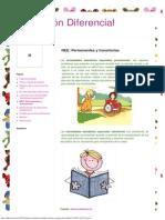 Educación Diferencial_ NEE_ Permanentes y Transitorias