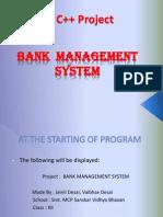 Bank Mangement C++ project PPT