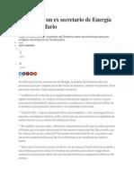 Críticas de Un Ex Secretario de Energía Al Cepo Tarifario