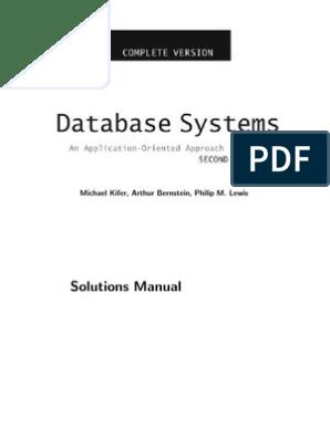 Database Systems Solutions | Relational Database | Relational Model