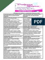 Calendario de talleres y seminarios primavera 2015