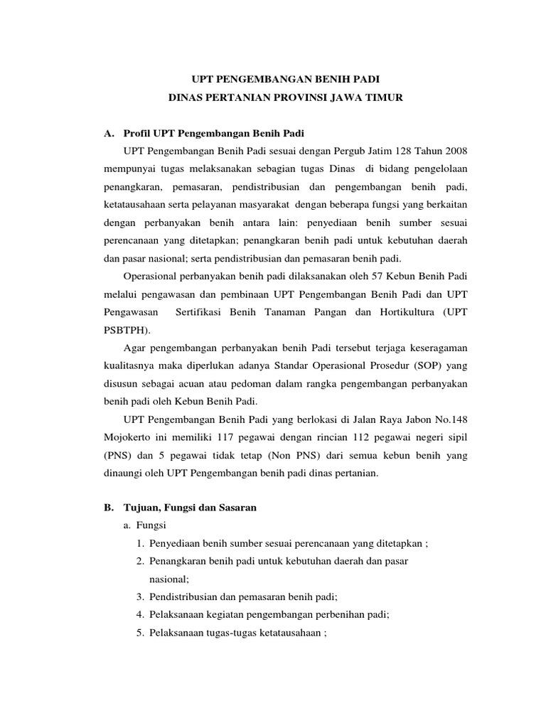Company Profile Upt Pengembangan Benih Padi Dinas Pertanian