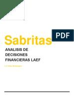 Sabritas Analisis de Decisiones Financieras