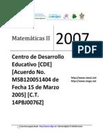 02 D.B. - Matematicas II