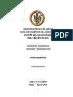 Modulo de Contenido de Lenguaje Educacion Basica